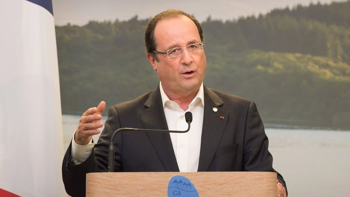 Francois Hollande at G8