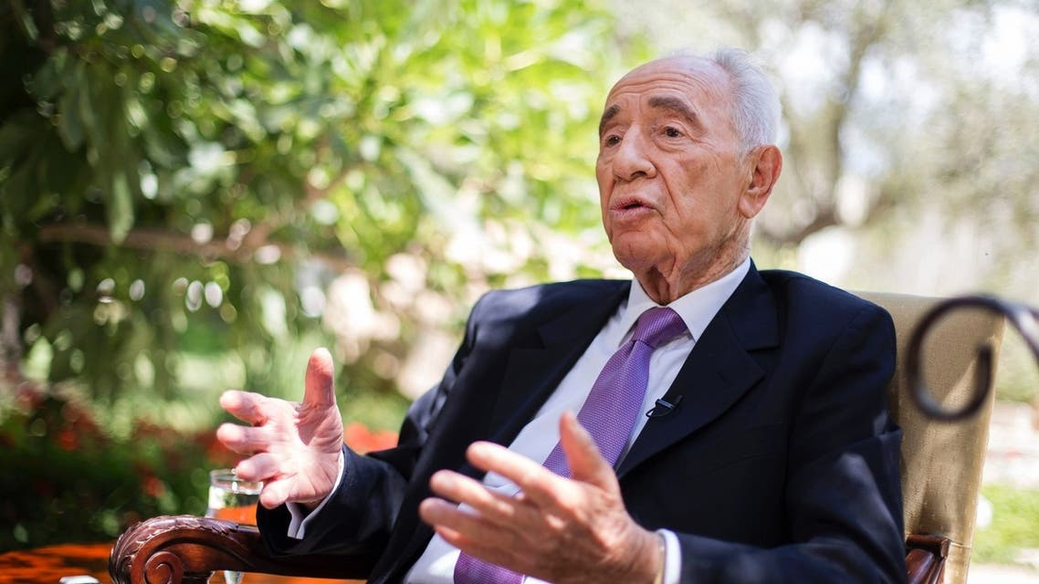 Israel's President Shimon Peres speaks during an interview with Reuters at his residence in Jerusalem June 16, 2013. (Reuters)