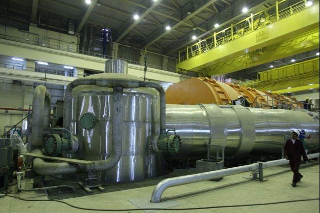 مفاعل بوشهر النووي في ايران