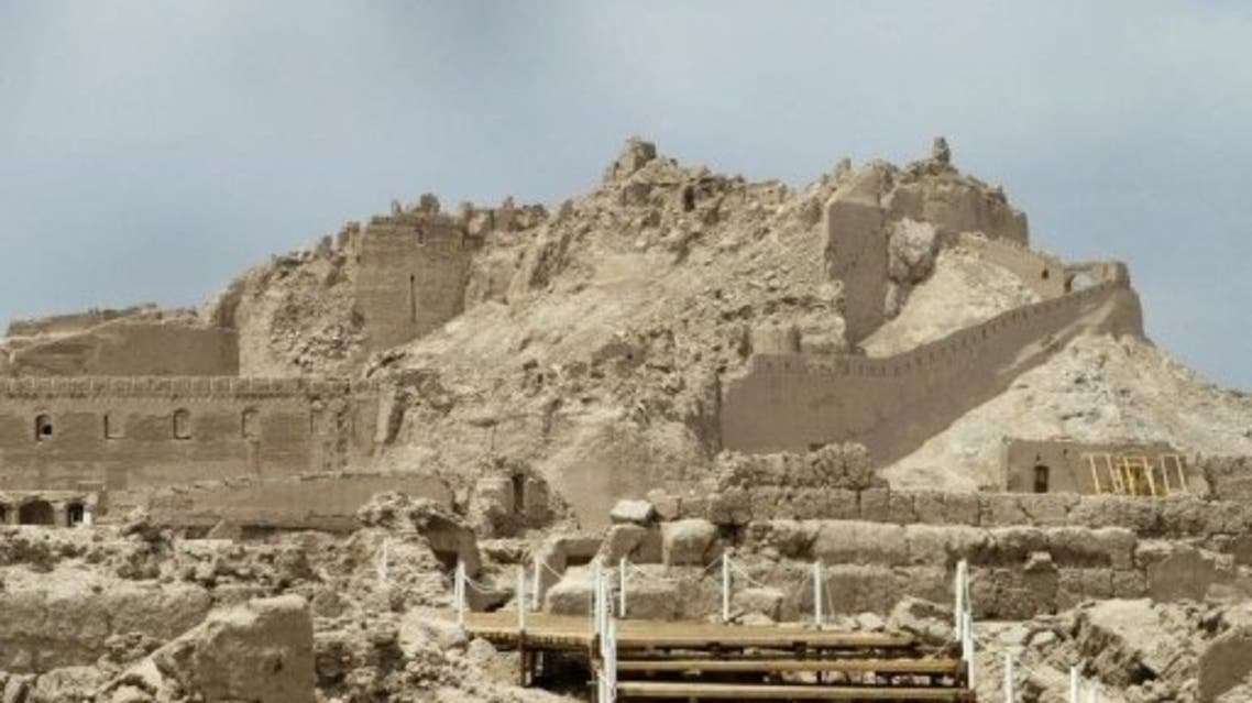 "Iran's ancient citadel of Bam in 2005. Almost completely destroyed by a major earthquake in 2003, Bam has been removed from the UNESCO list of ""World Heritage in Danger."" (File photo: AFP)"
