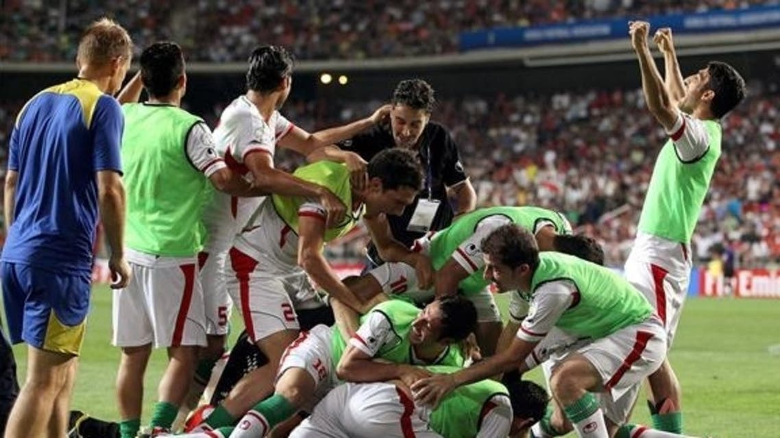 فرحة لاعبي إيران