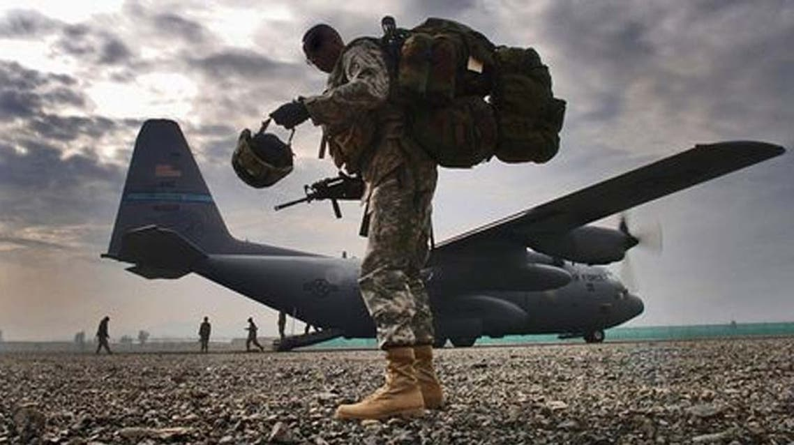 A U.S. soldier at Bargram Air Base, about 60km from Kabul. (Photo courtesy: U.S. air force)
