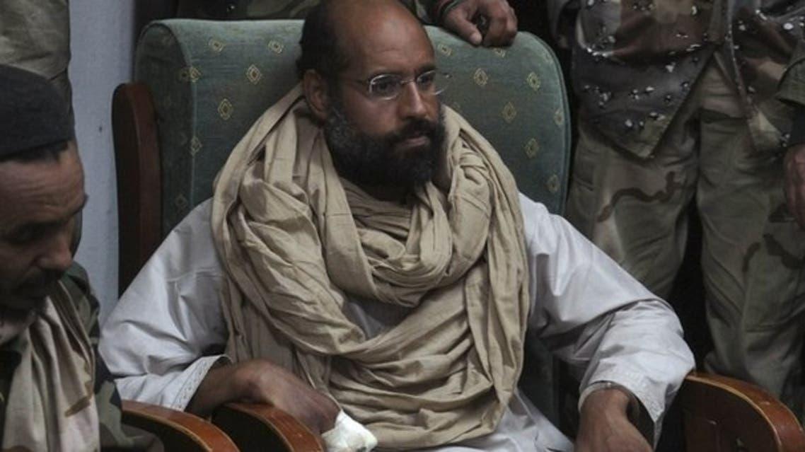 Saif al-Islam Qaddafi, seen after his capture in 2011. (Reuters)