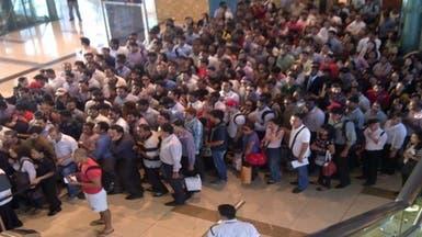 ازدحام كبير بمحطات مترو دبي بسبب عطل تقني