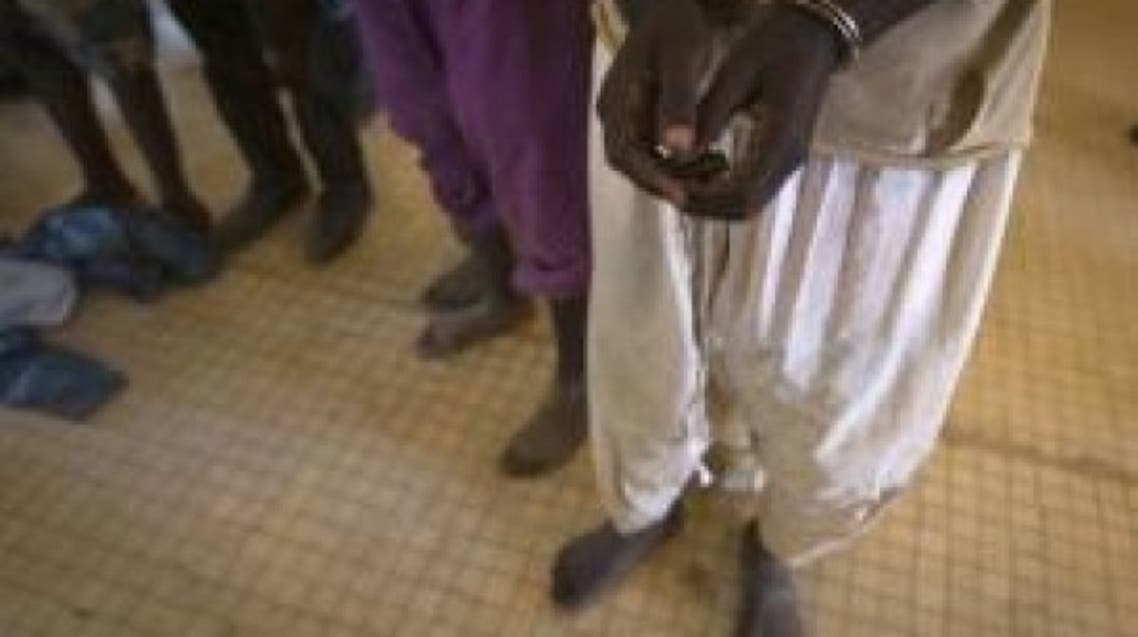 Prisoners in Gao on February 26, 2013 are transferred to Bamako, on charges of belonging to MUJAO, an Al-Qaeda offshoot. (AFP)