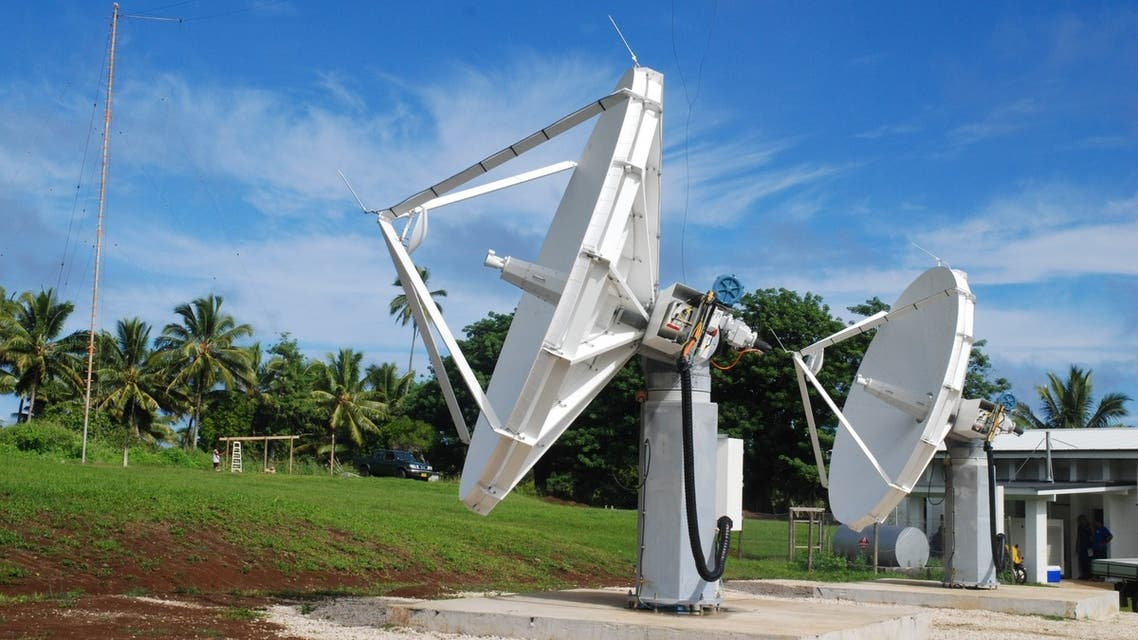 O3b satellites will beam down signals to ground stations such as this site on the Cook Islands. (Image courtesy: O3b)