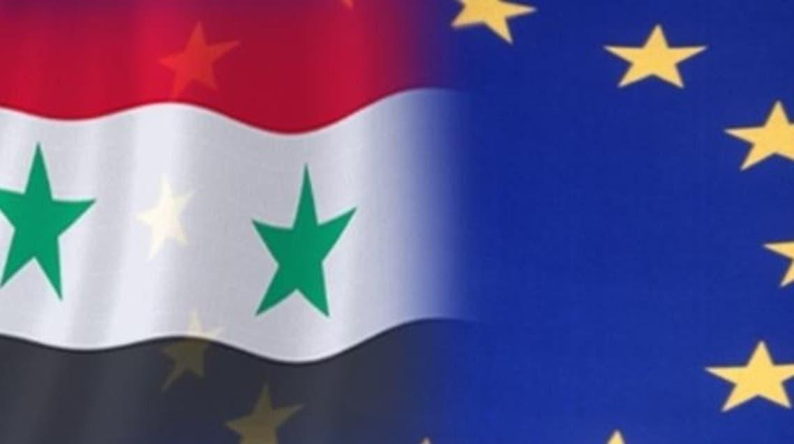 علم الاتحاد الأوروبي وسوريا