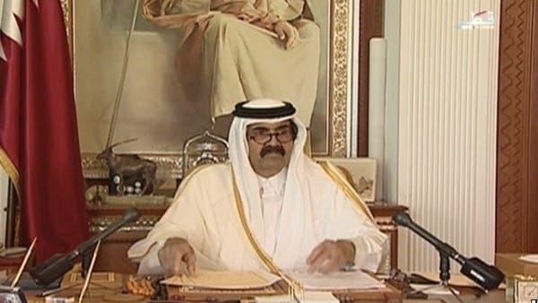 القطريون يبايعون الشيخ تميم خلفاً لوالده ...