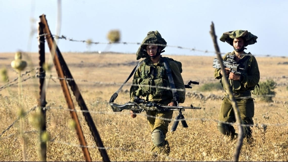 عناصر من الجيش الاسرائيلي اثناء تدريب عسكري في الجولان