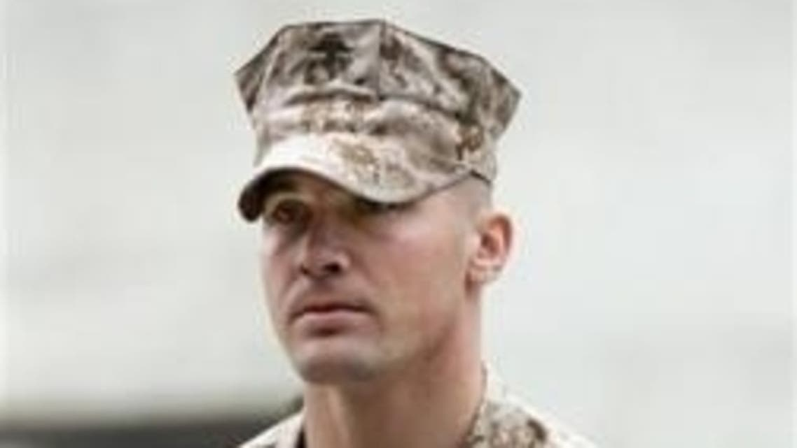 U.S. Marine Sgt. Lawrence G. Hutchins III arrives for his Article 32 Investigation hearing at Camp Pendleton, California, October 16, 2006. (Reuters)