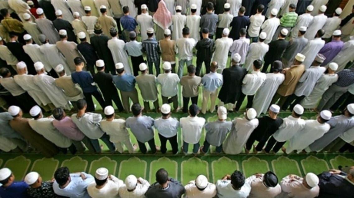 Muslims pray in London
