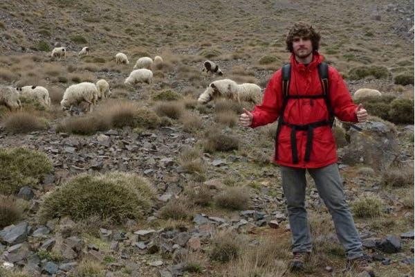 Andrew in Mount Toubkal, Morocco. (Exclusive to Al Arabiya)