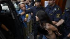 Femen stages topless protest in Stockholm mosque