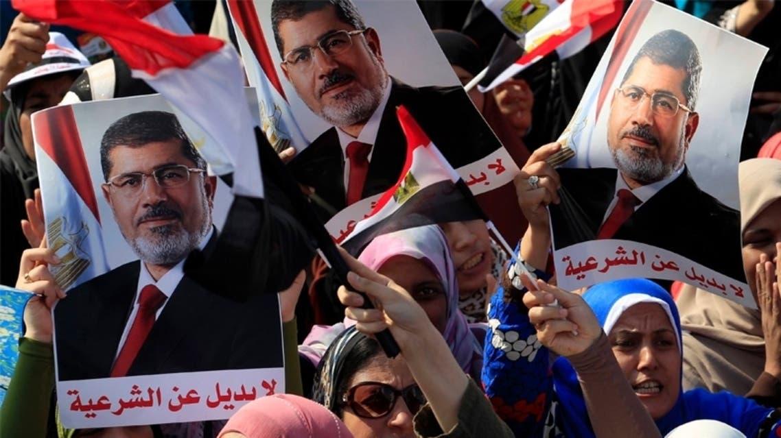 انصار مرسي في تظاهرة تأييد