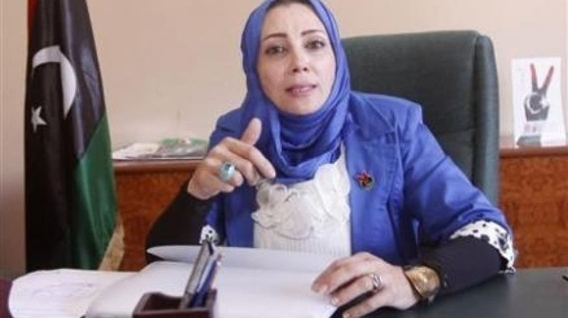 Former deputy minister of social affairs Bahiya Kanoun is pictured in her office in Tripoli May 13, 2013. (Reuters)