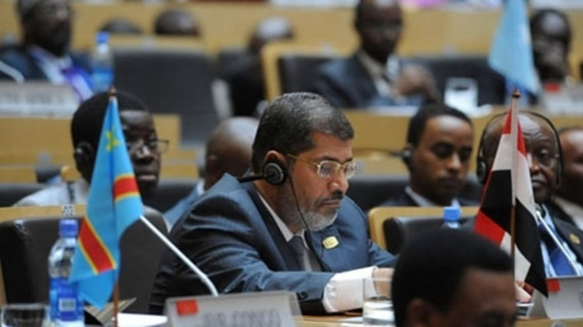 Egypt's President Mohamed Morsi attends during the opening of the African Union (AU) leaders' meeting in Addis Ababa in 2012 (Photo: Reuters)