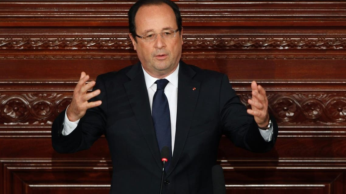 France's President Francois Hollande delivers a speech at the Constituent Assembly in Tunis July 5, 2013. (Reuters)