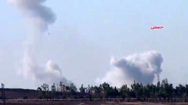 سقوط قنابل كيماوية كثيفة على حمص وسط استغاثات الأهالي
