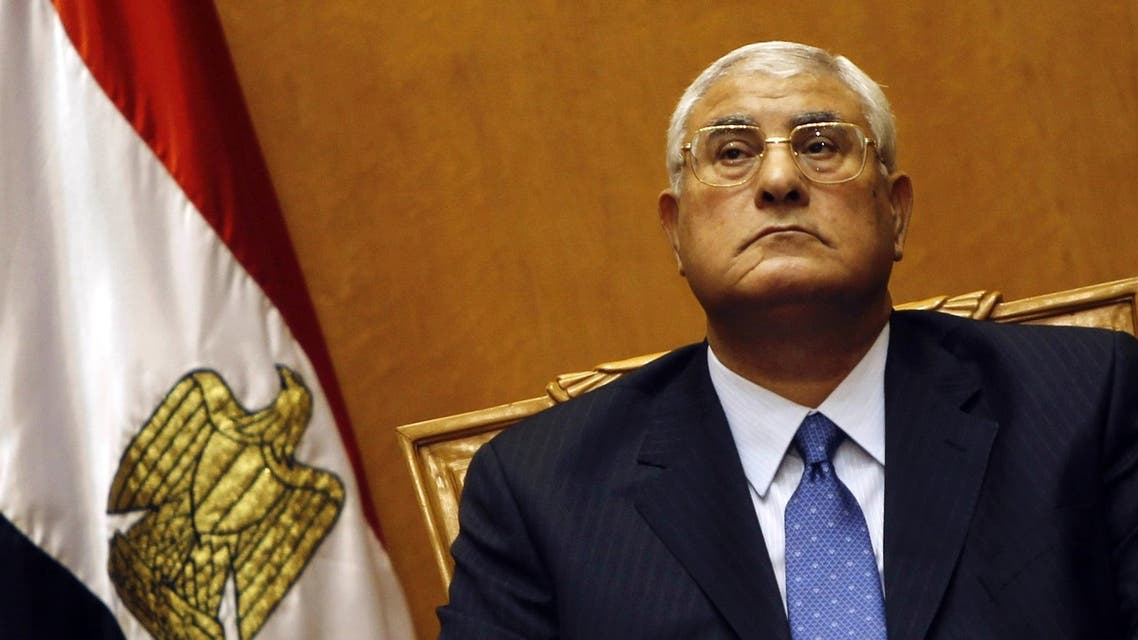 Adli Mansour, Egypt's chief justice and head of the Supreme Constitutional Court, attends his swearing in ceremony as the nation's interim president in Cairo July 4, 2013, a day after the army ousted Mohamed Mursi as head of state. (Reuters)
