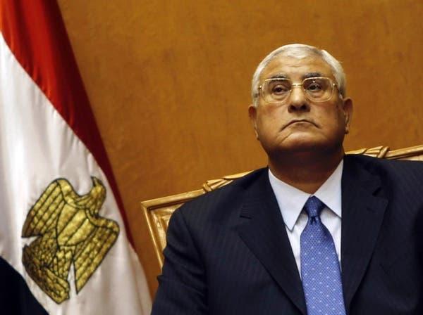 منصور: لا تراجع عن خارطة الطريق ولن نسمح بعرقلة مصر
