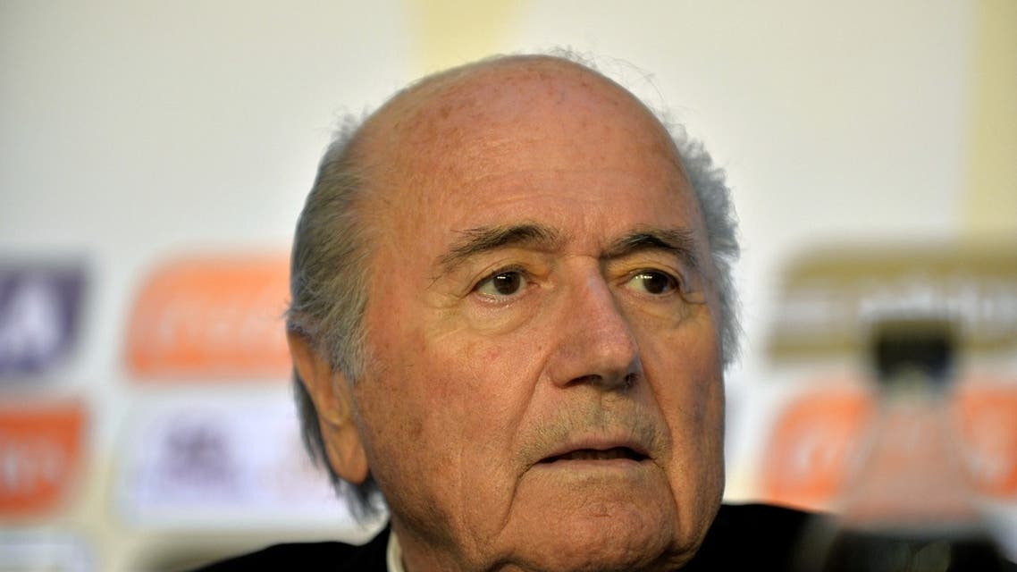 FIFA's president Joseph Blatter during a press conference on July 1, 2013 in Rio de Janeiro, Brazil 2013 after the end of the Confederations Cup Brazil 2013 football tournament final. (AFP)