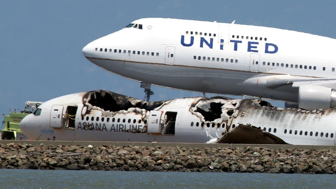 تحطم طائرة في سان فرانسيسكو