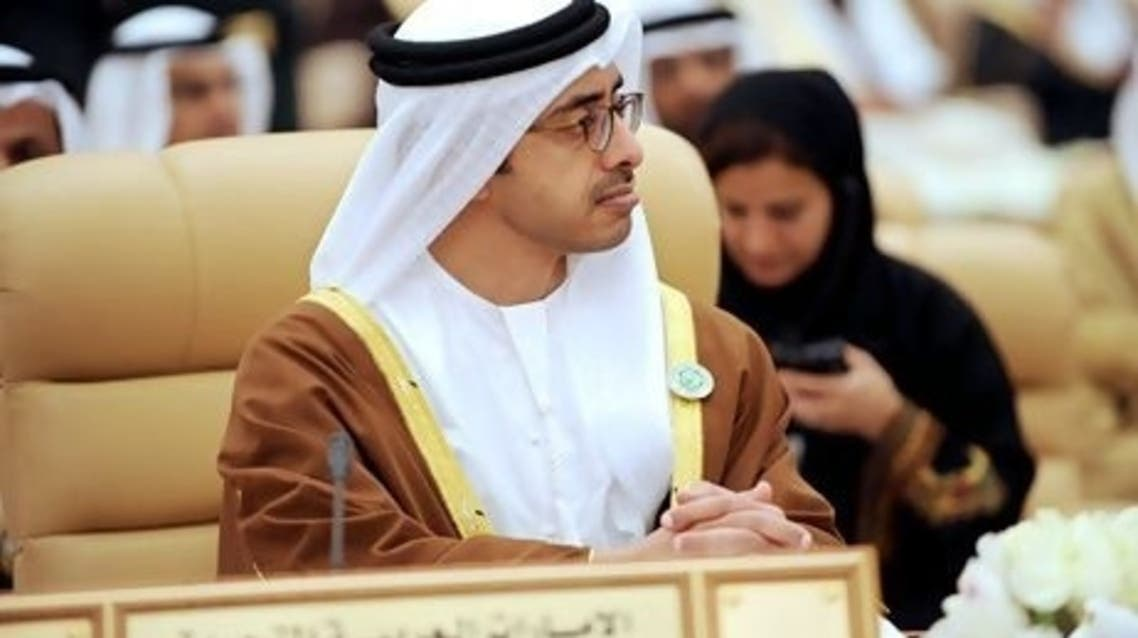 The UAE Foreign Minister Sheikh Abdullah bin Zayed Al Nahyan (File photo: AFP)