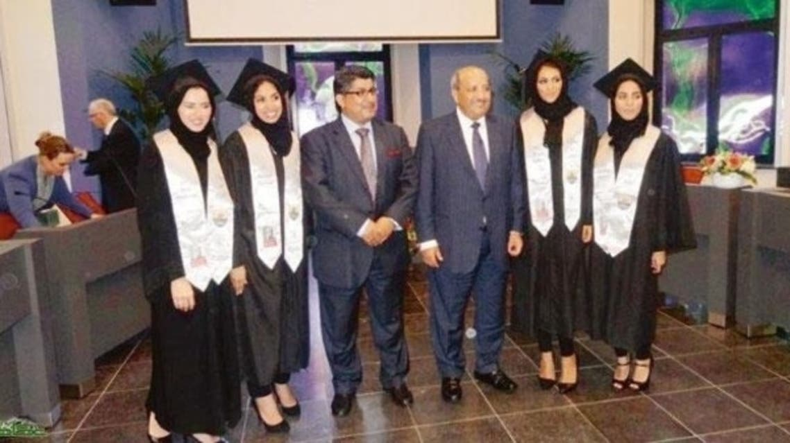 Four Saudi female medical students have become the first doctors to graduate as part of a Saudi scholarship programme at the University of Maastricht in the Netherlands. (Photo courtesy: Okaz newspaper)