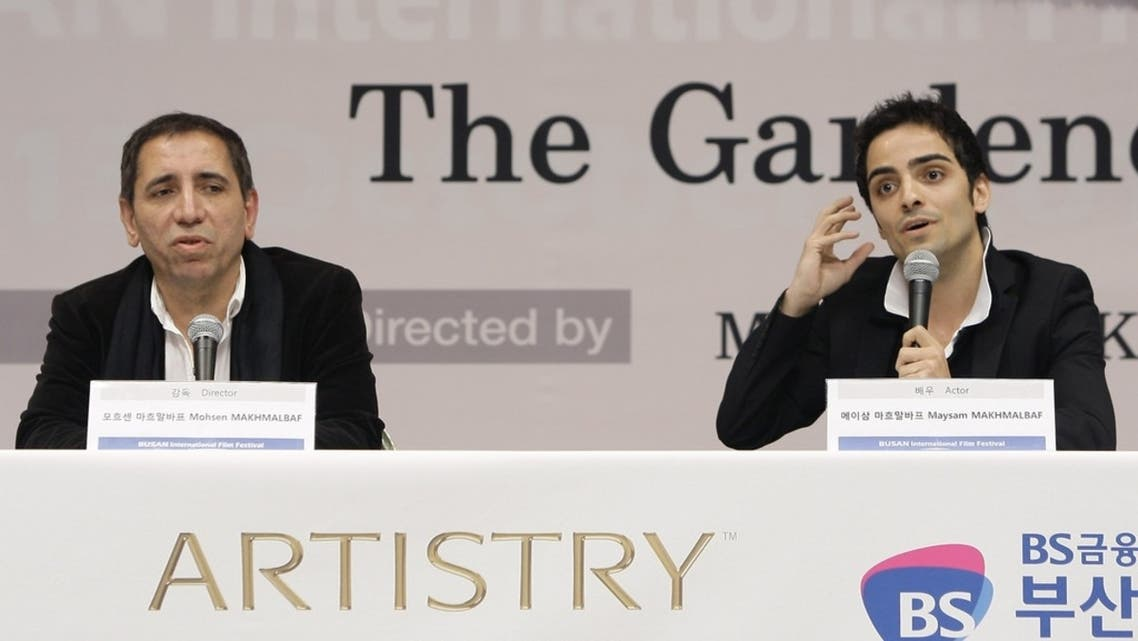 Director Mohsen Makhmalbaf and actor Maysam Makhmalbaf attend the 'Gardener' gala presentation and press conference at the Shinsegae Centumcity cultural hall during the 17th Busan International Film Festival (BIFF) (Photo courtesy: Getty Images)
