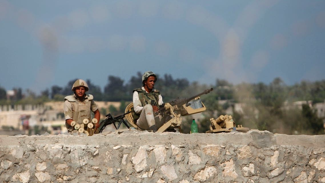 Egyptian soldiers keep guard on the border between Egypt and southern Gaza Strip July 8, 2013. (Reuters)