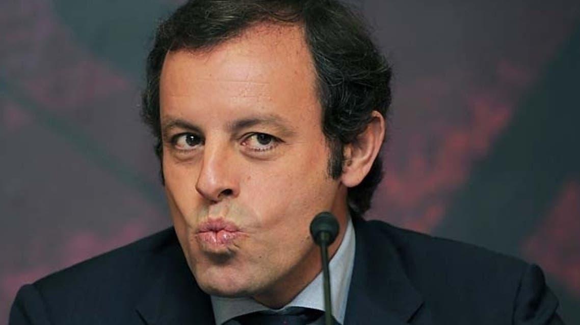 رئيس برشلونة الإسباني ساندرو روسيل
