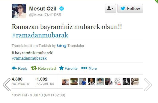 تغريدة مسعود أوزيل