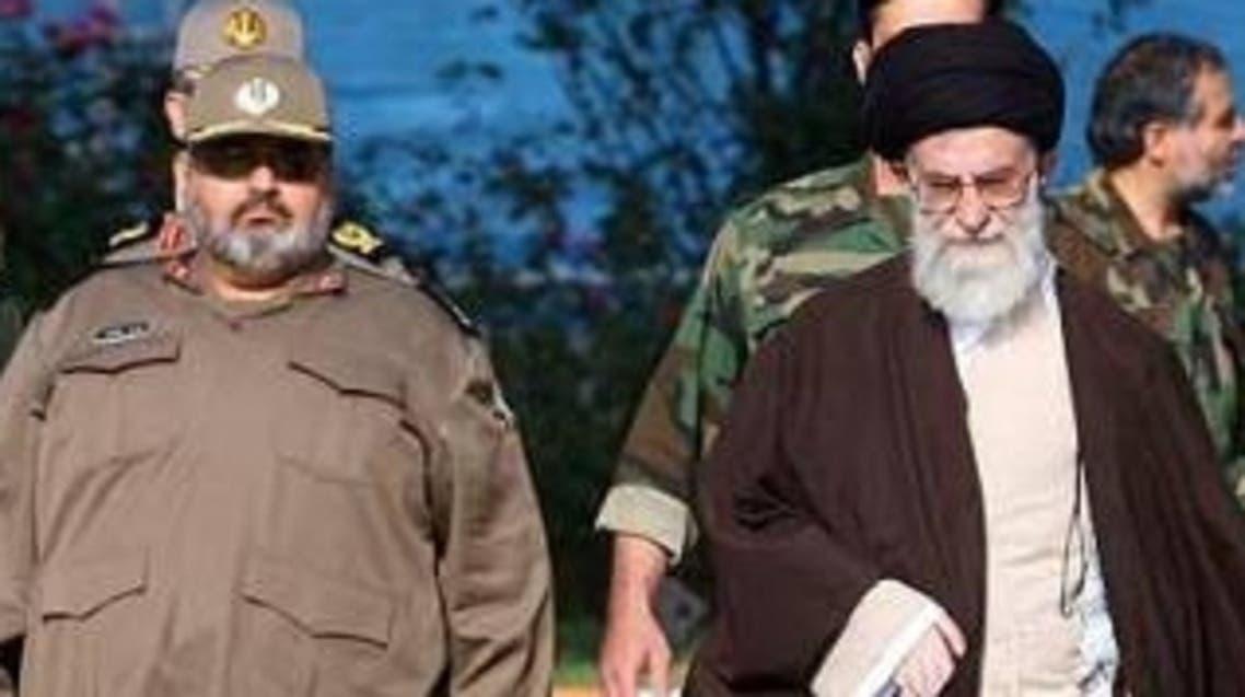 فيروز أبادي مع المرشد الإيراني الأعلى