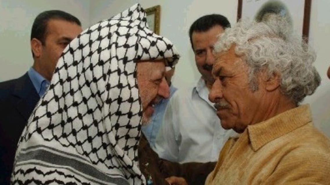أحمد ابو السكر والزعيم الفلسطيني الراحل ياسر عرفات
