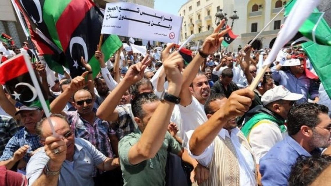 libya 'militias out' demostrations 2013 AFP