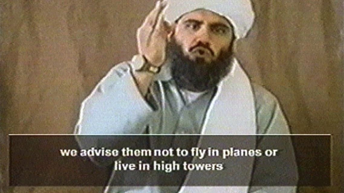A man believed to be Sulaiman Abu Ghaith in a still from a 2002 video. (Reuters)