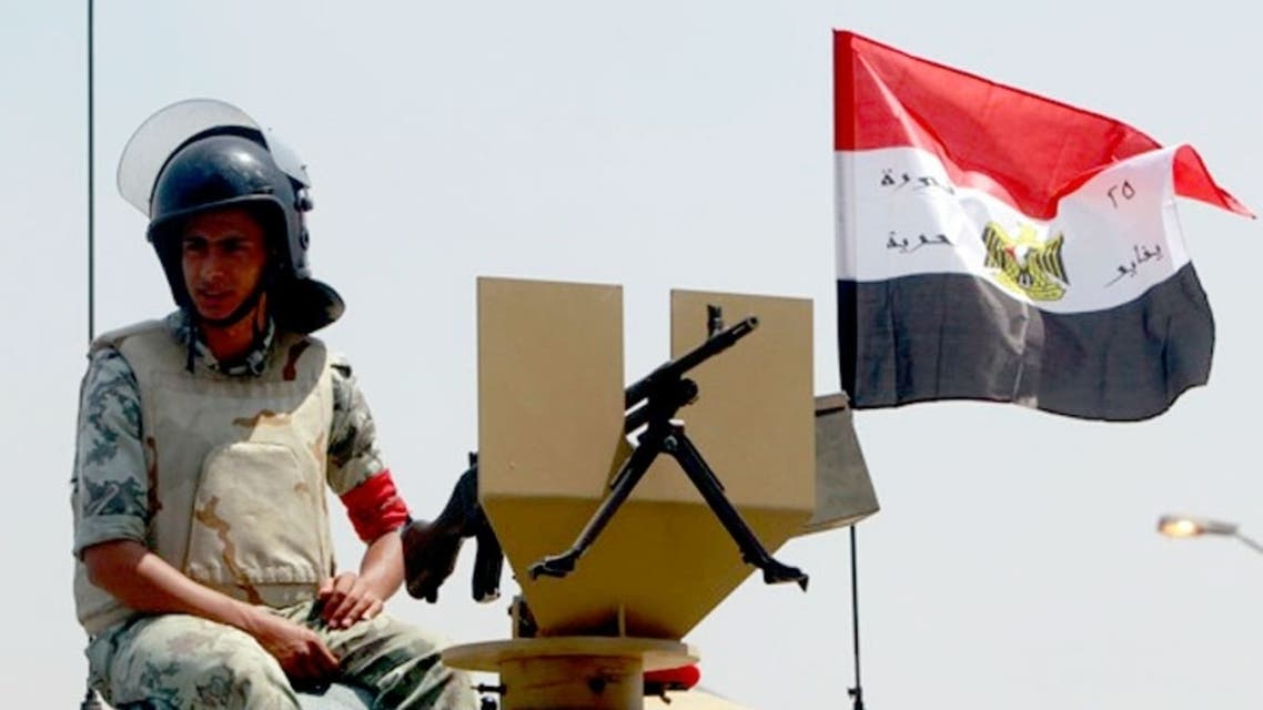 An Egyptian army soldier sits on his vehicle. (File Photo: Reuters)