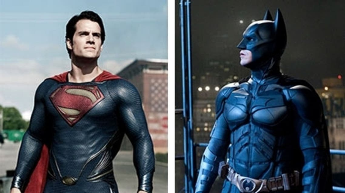 Henry Cavill as Superman in Man of Steel and Christian Bale as Batman in the Dark Knight films. Photograph: Warner Bros
