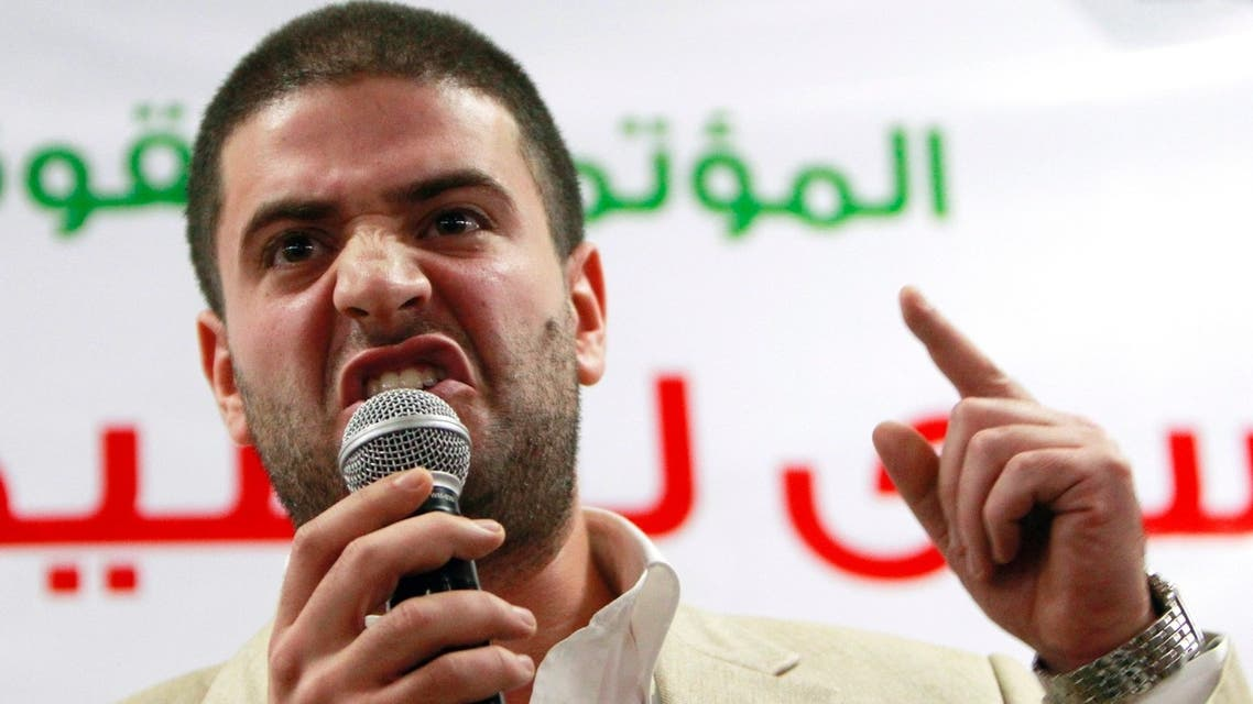 Osama Mursi, son of Egypt's ousted President Mohammead Mursi, speaks during a news conference in Cairo July 22, 2013. (Reuters)