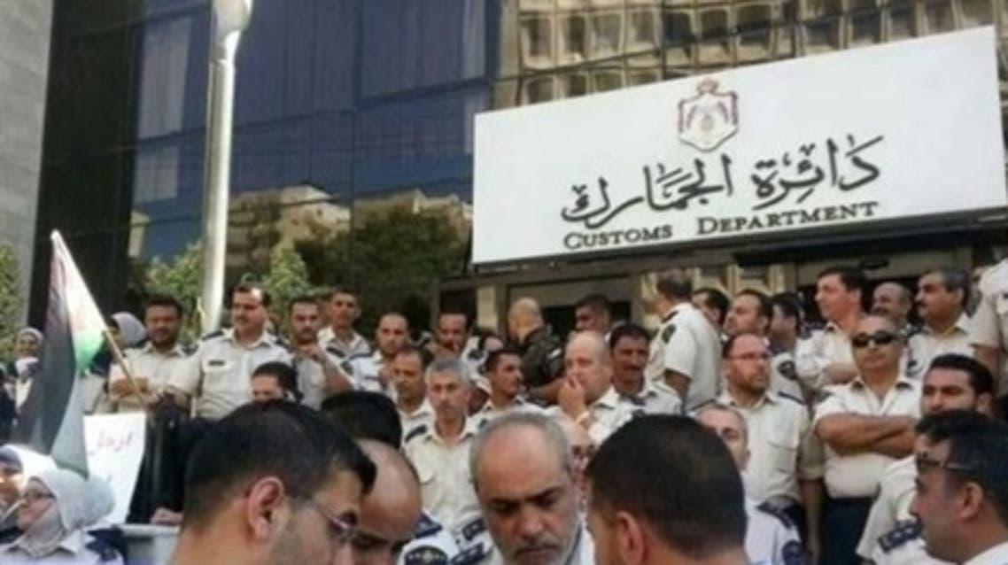إضراب موظفي الجمارك في الاردن