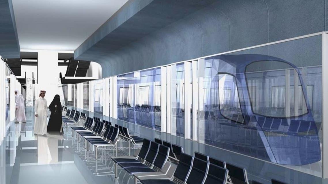صورة تخيلية لإحدى محطات مترو الرياض من الداخل