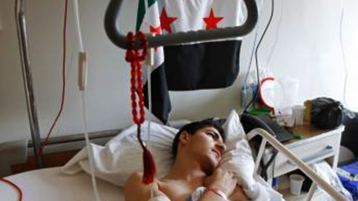 Syria wounded (File photo: Reuters)