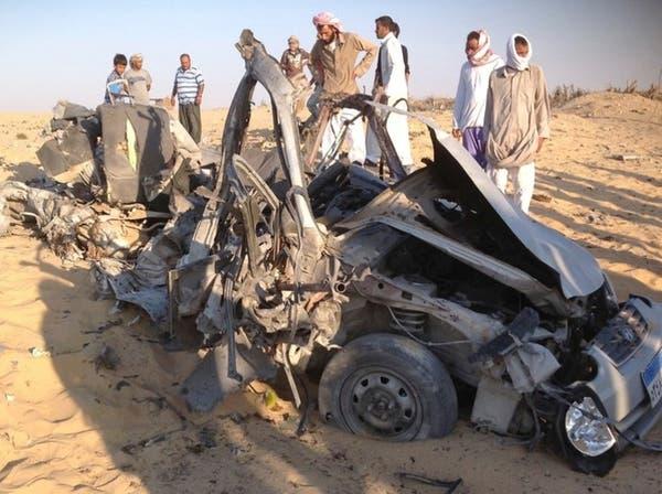 انفجار سيارة مفخخة في سيناء ومقتل 3 مسلحين