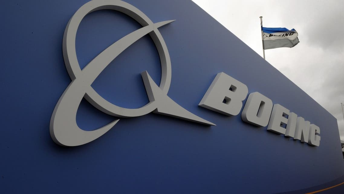 The logo of US aircraft manufacturer Boeing taken at Le Bourget airport, near Paris. (File Photo: AFP)