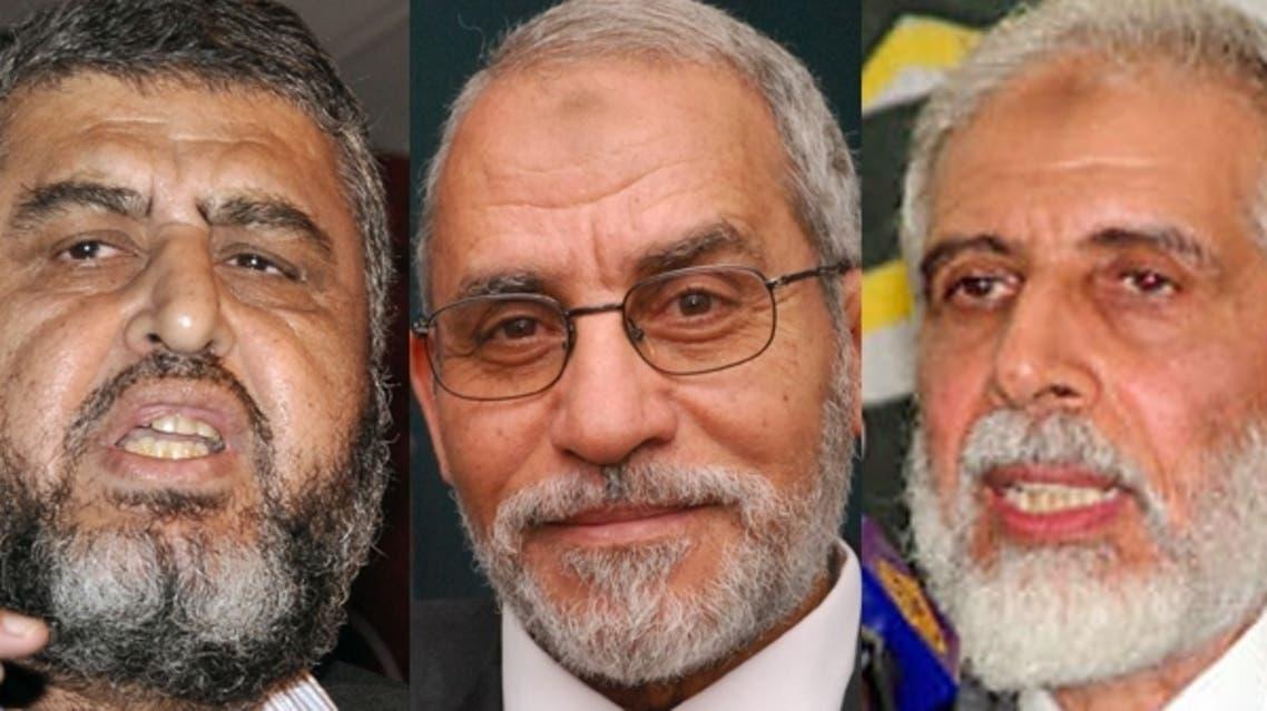 محمود عزت ومحمد بديع وخيرت الشاطر