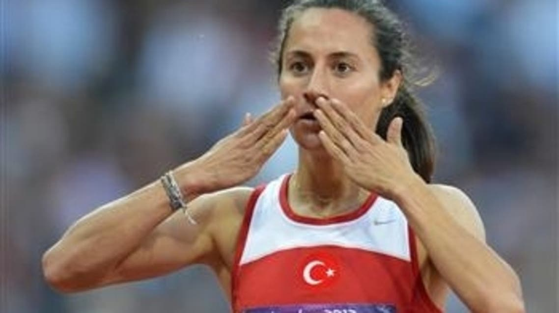Aslı Çakır Alptekin won the women's 1500m competion in 2012 Olympic Games. Another Turkish athlete, Gamze Bulut, took the silver medal. (Photo courtesy of the, hurriyetdailynews.com)