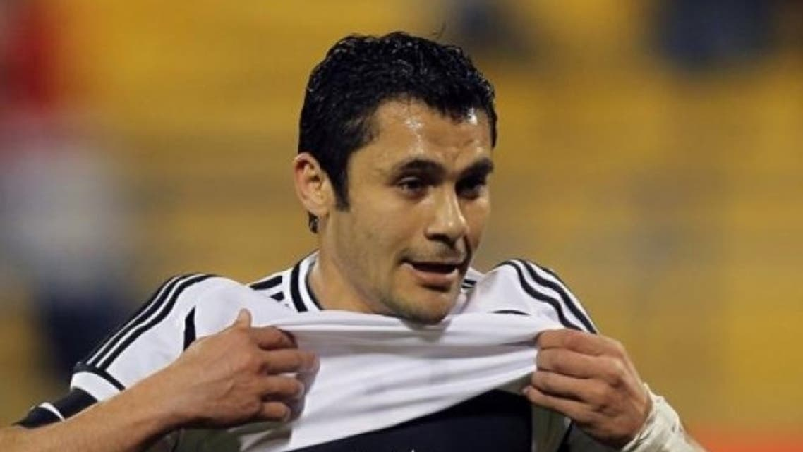 Egypt midfielder Ahmed Hassan, pictured on February 27, became the most capped footballer in the world Wednesday. (File Photo: AFP)