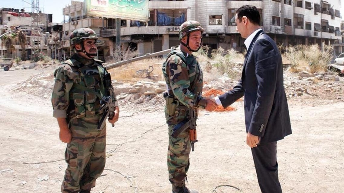 Assad in Daraya