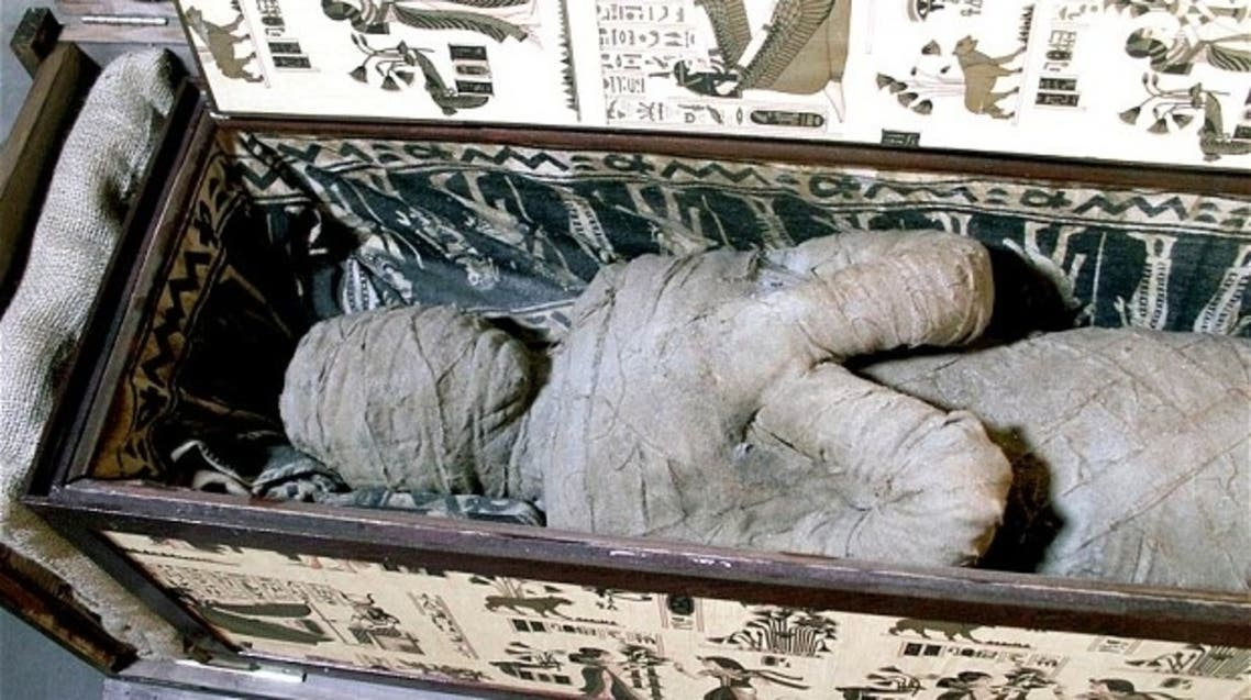 The sarcophagus discovered by 10-year-old Alexander in his grandmother's attic. (Photo courtesy: EPA)