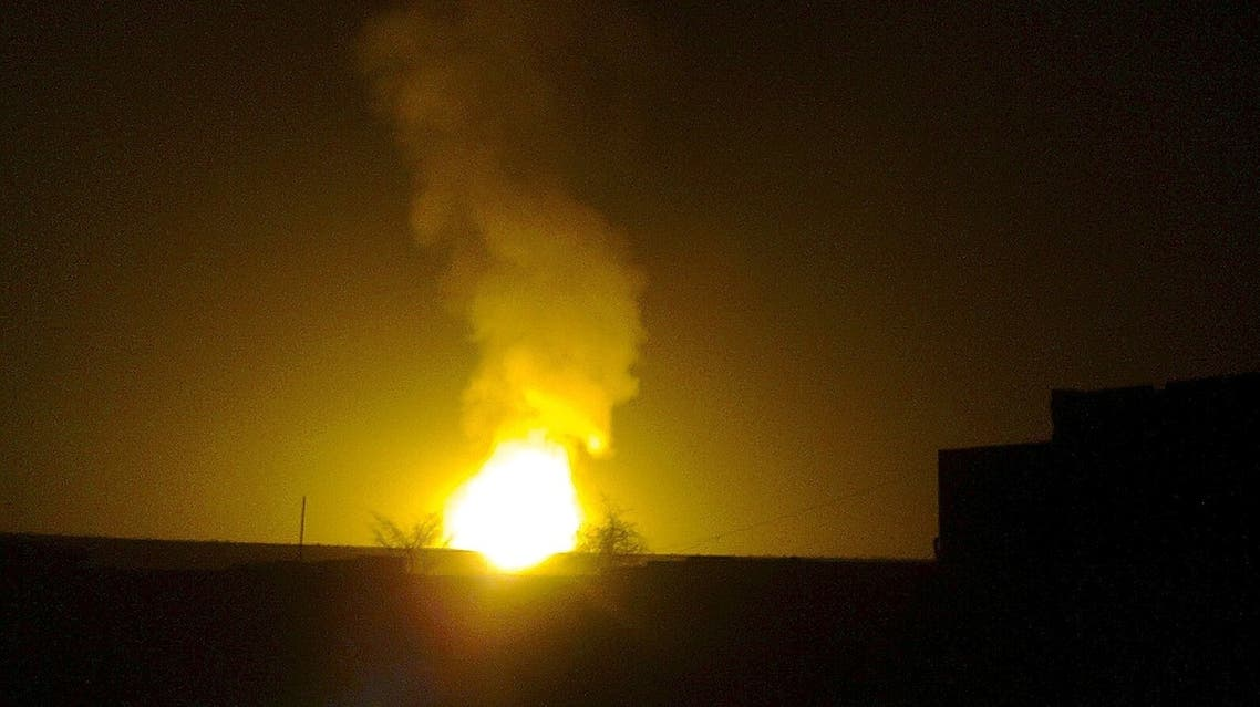 Flames rise from Yemen's main gas pipeline after it was blown up in August 2012. The country has faced several attacks on its oil and gas infrastructure. (File photo: Reuters)